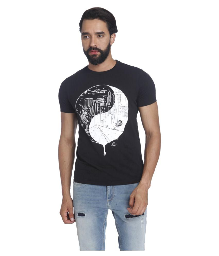 Jack & Jones Black Round T-Shirt