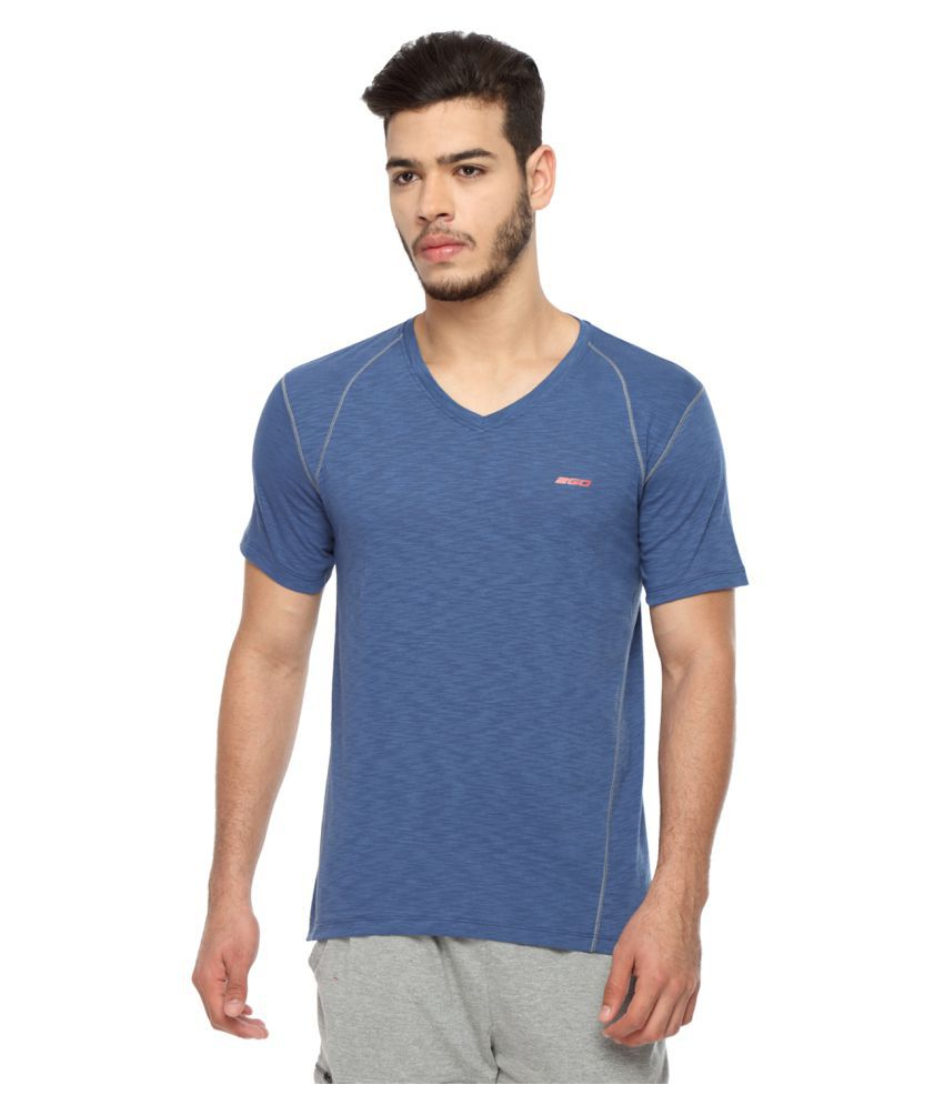 2go Navy V-Neck T-Shirt