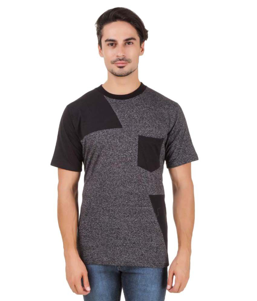 Aurelio Marco Grey Round T-Shirt