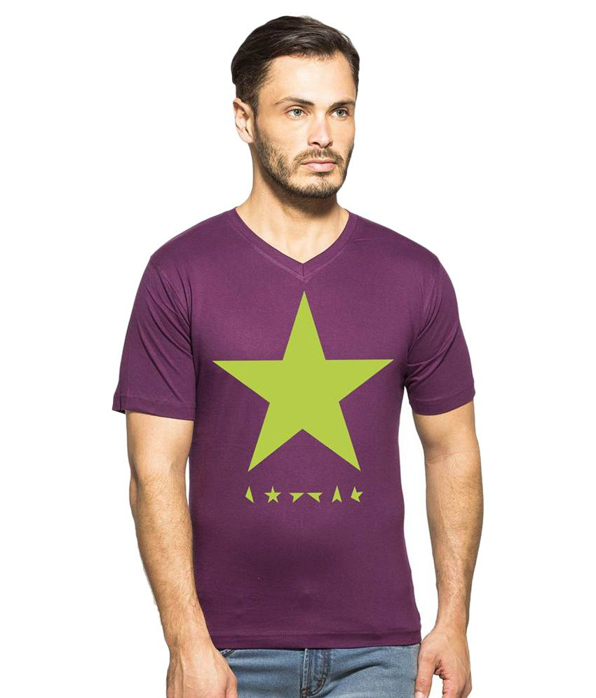 Clifton Purple V-Neck T-Shirt