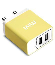 Mivi Smart Charge 3.1A Dual port Wall USB Charger with Auto Detect Technology for Oppo Vivo Redmi Xiaomi Mi Samsung Lenovo Moto