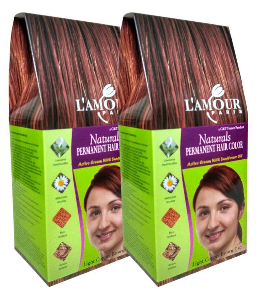 Lamour Paris Naturals Light Copper Brown 740 Permanent Hair Color