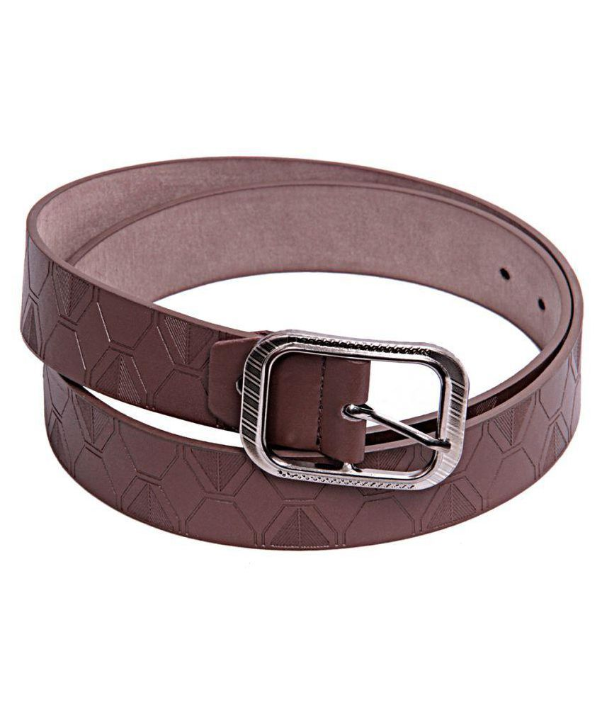 Apna Shopping Centre Brown Faux Leather Formal Belts