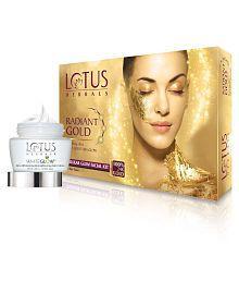 Lotus Herbals Radiant Gold Cellular Glow Radiant Kit With Free Whiteglow Gel Creme Rs 255
