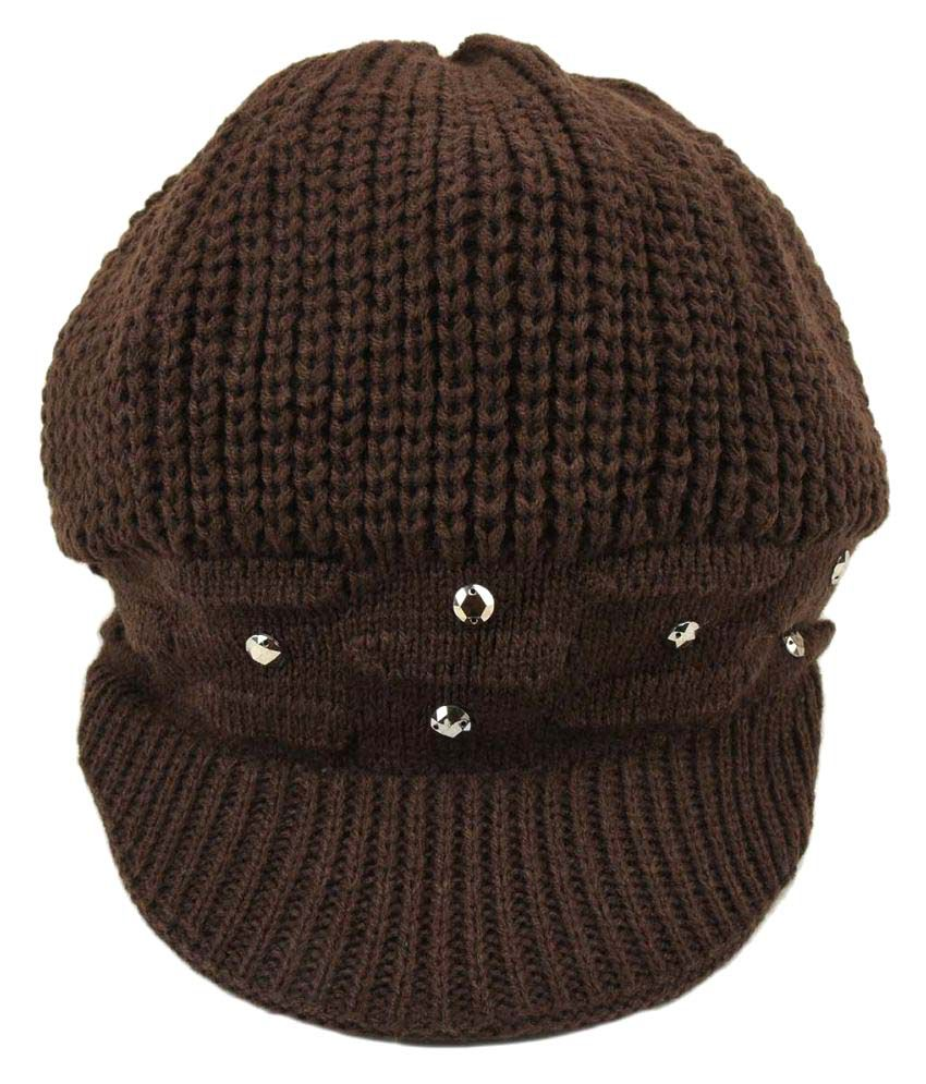 621d7f92b09 Tiekart Brown Women Warm Caps  Buy Online at Low Price in India - Snapdeal