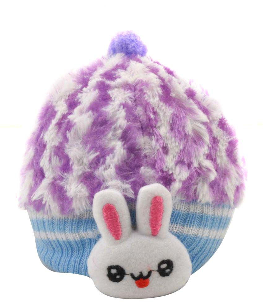 Tiekart Purple Kids Warm Caps