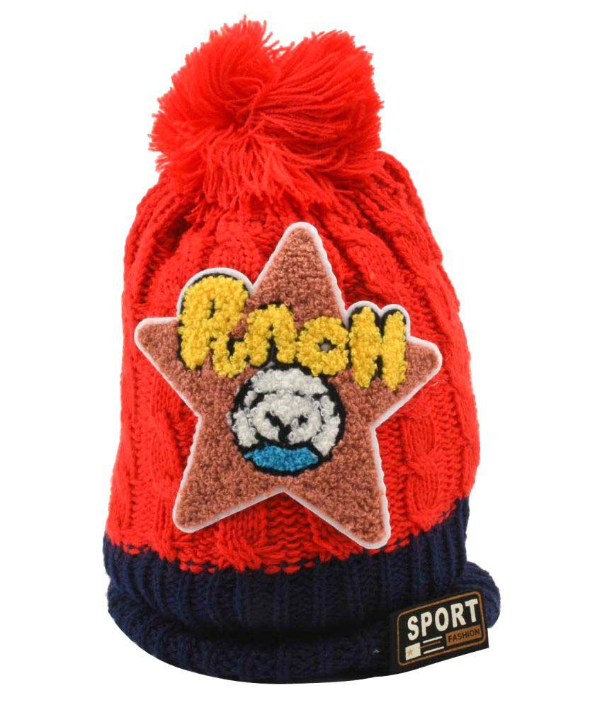 Tiekart Red Kids Warm Caps