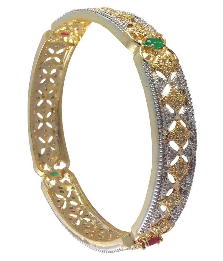 Rejewel American Diamond Two Toned Kada For Women Size 2.8