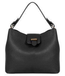 Lino Perros BLACK Faux Leather Shoulder Bag