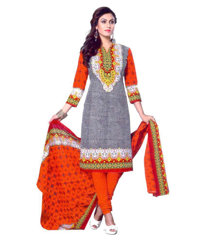 RS Ganesh Garments Multicoloured Cotton Dress Material
