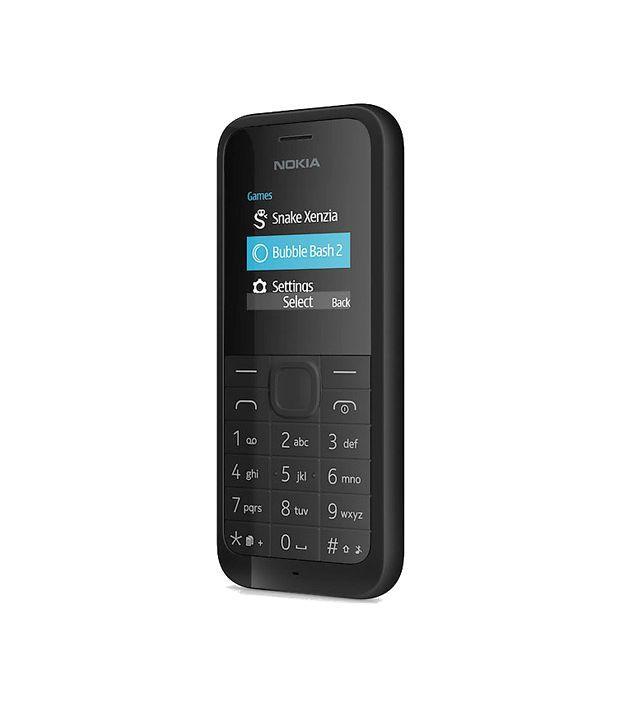 Nokia 105 Dual SIM (Black) Mobile Phones Online at Low ...