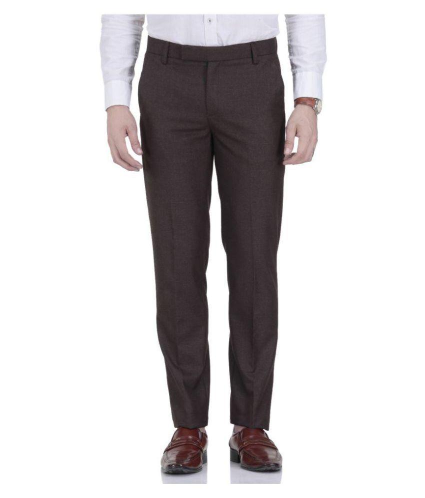Fabulous Brown Regular Pleated Trouser