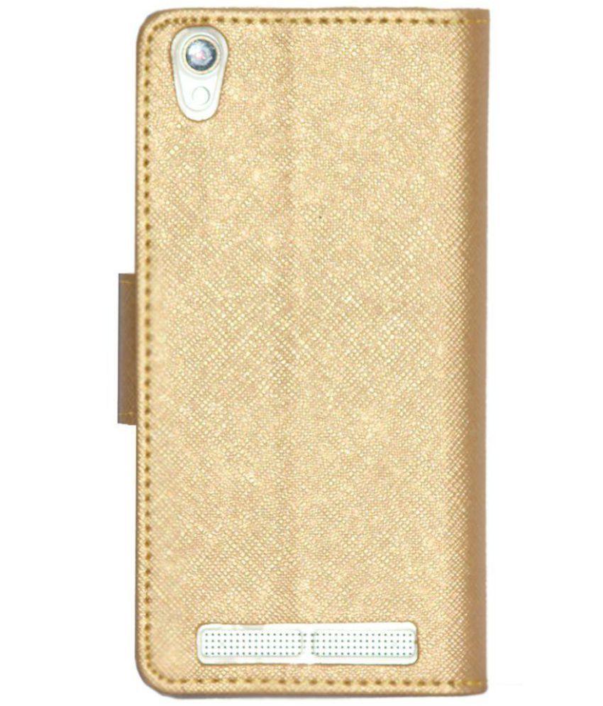 online store 2690a c702b Intex Aqua Power Plus Flip Cover by Gizmofreaks - Golden