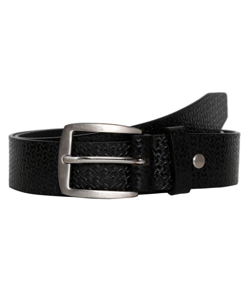 Fedrigo Black Leather Casual Belts