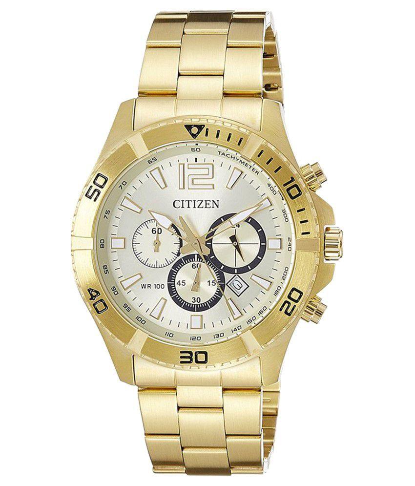 citizen chronograph gold s an8122 51p