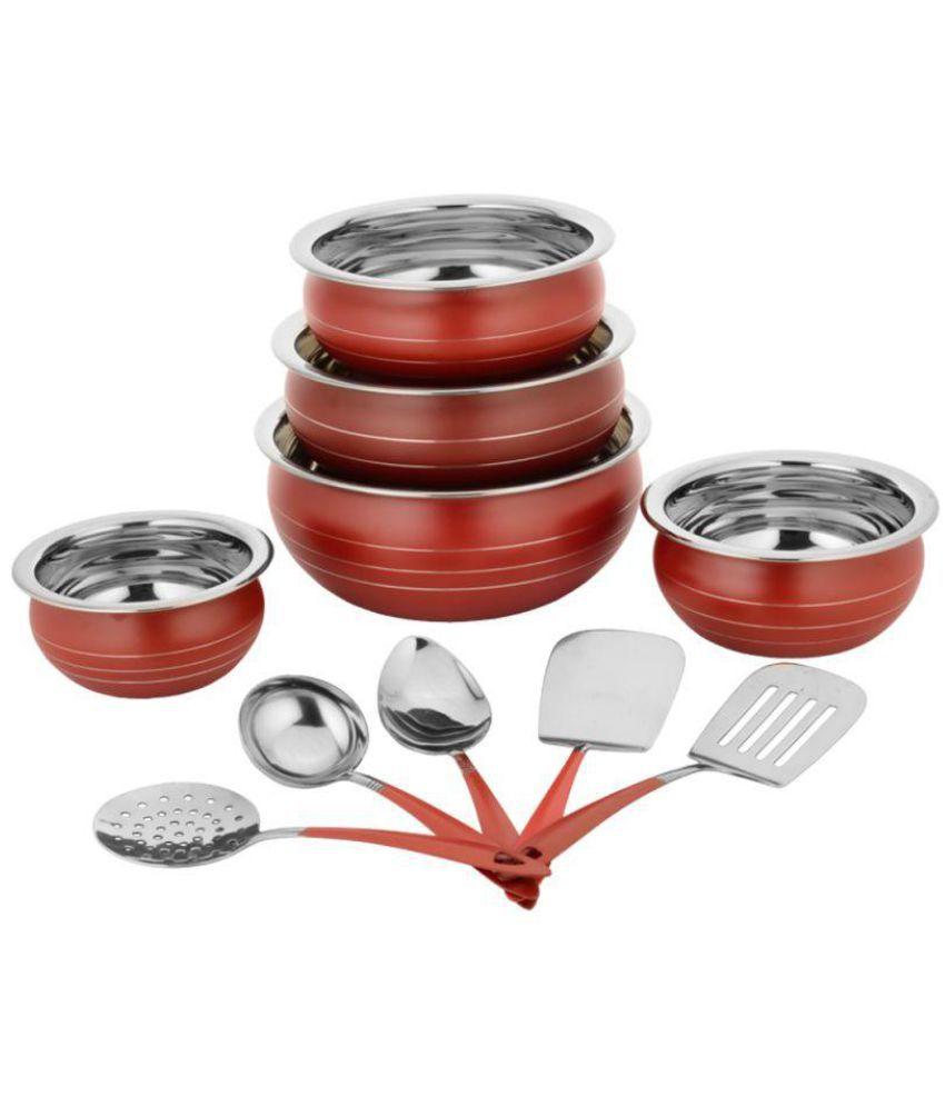 Classic Essentials Ceramic Cookware Set 10 Cook n Serve Casseroles