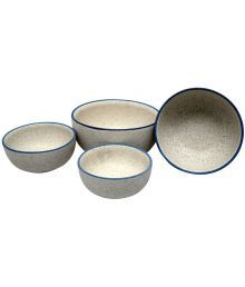 Stonish 4 Pcs Ceramic Cereal Bowl 4000 Ml, 3500 Ml, 2000 Ml &1000 Ml