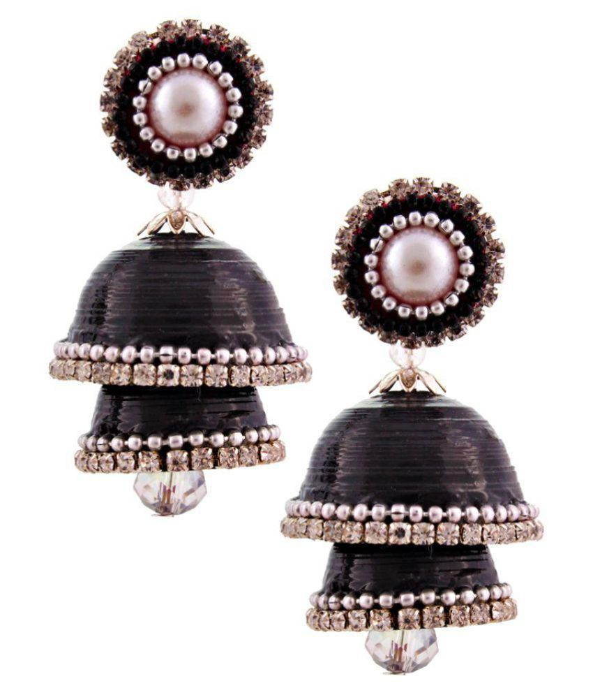 Creative_Studio Black Hancrafted Paper Jhumki
