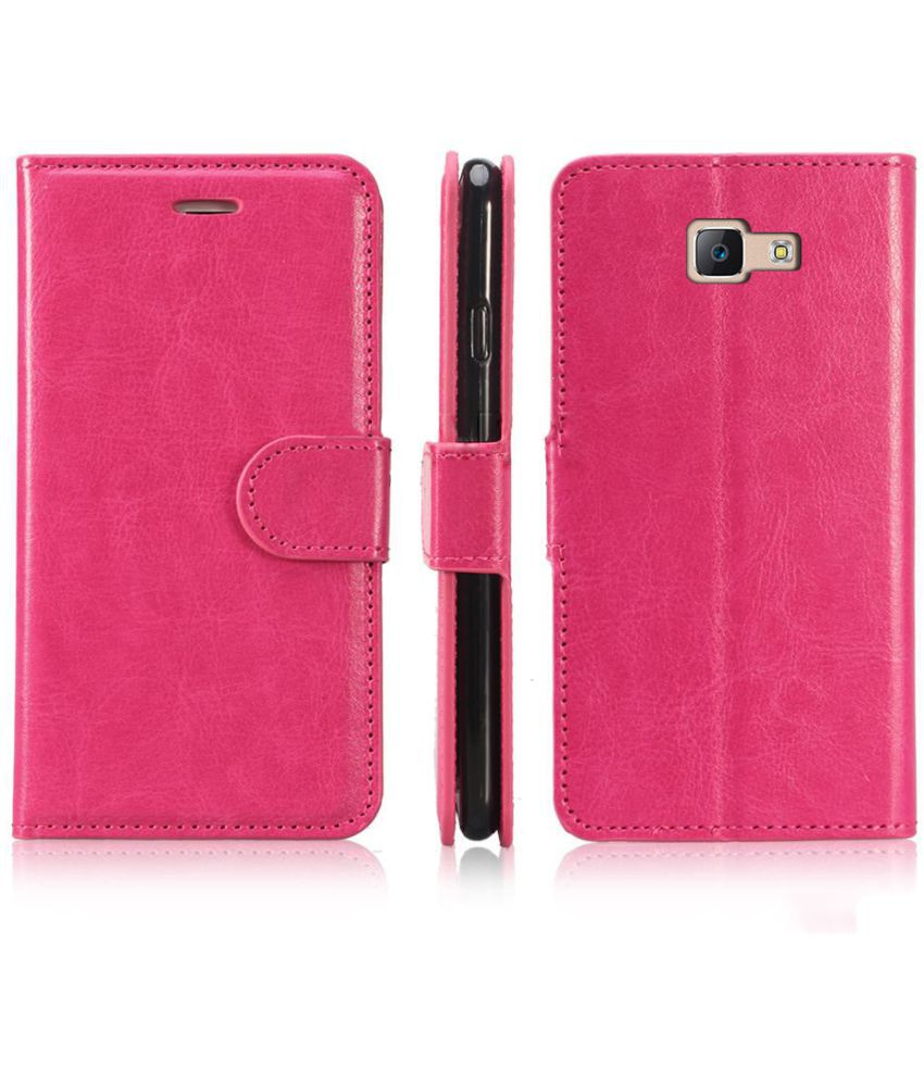 timeless design b2550 cb309 Samsung Galaxy J7 Prime Flip Cover by N+ INDIA - PINK