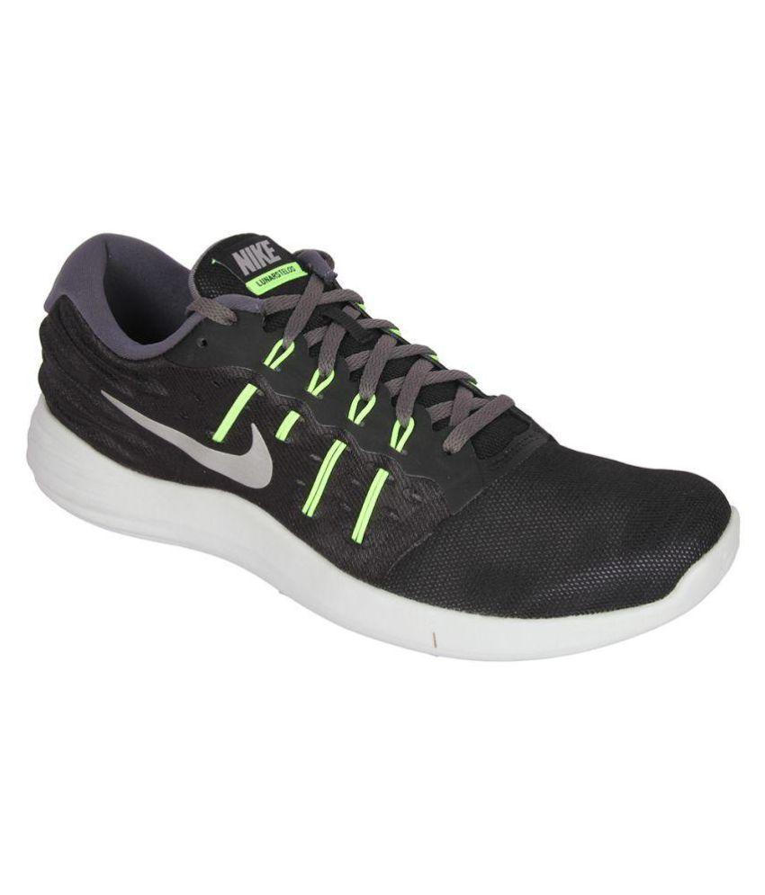Nike Lunarstelos Black Running Shoes ...
