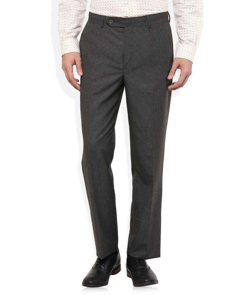 Wills Lifestyle Indigo Blue Regular Flat Trouser