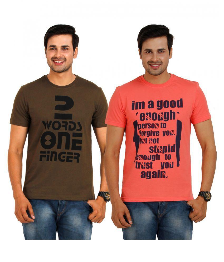TT Multi Round T-Shirt Pack of 2