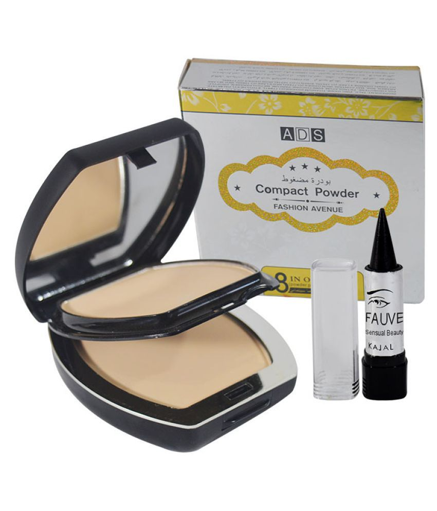 ADS Good Choice Free Kajal With Pressed Powder Good Choice Beige 43 gm