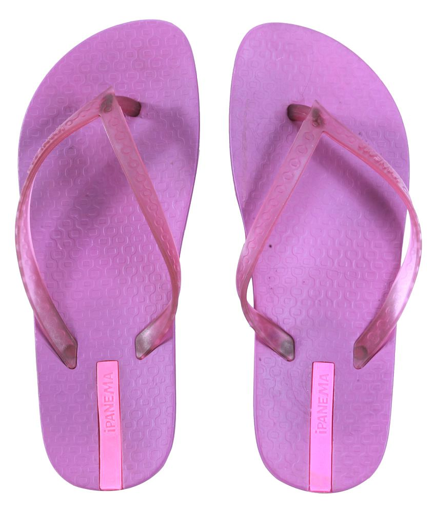 Ipanema Purple Slippers