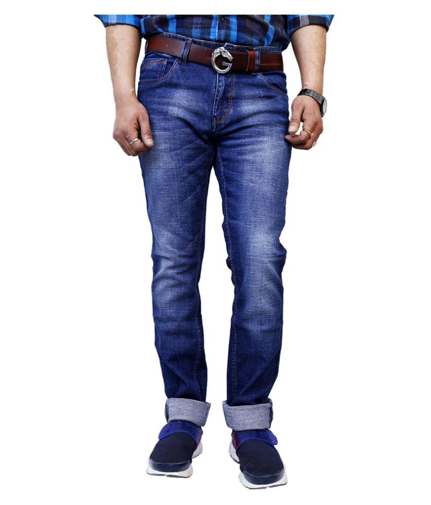 11Cent Dark Blue Slim Washed
