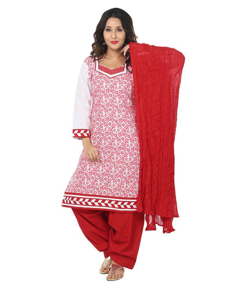 Saundarya Multicoloured Cotton Straight Stitched Suit