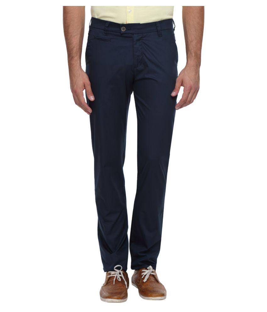 Classic Polo Dark Blue Slim Flat Trouser