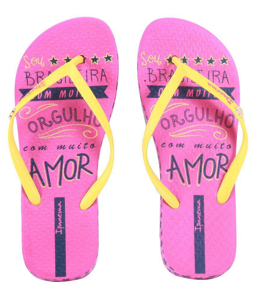 Ipanema Yellow Slippers