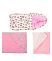 Best Combo Set Of Baby Carry Bed, Cap Blanket, Dry Mat