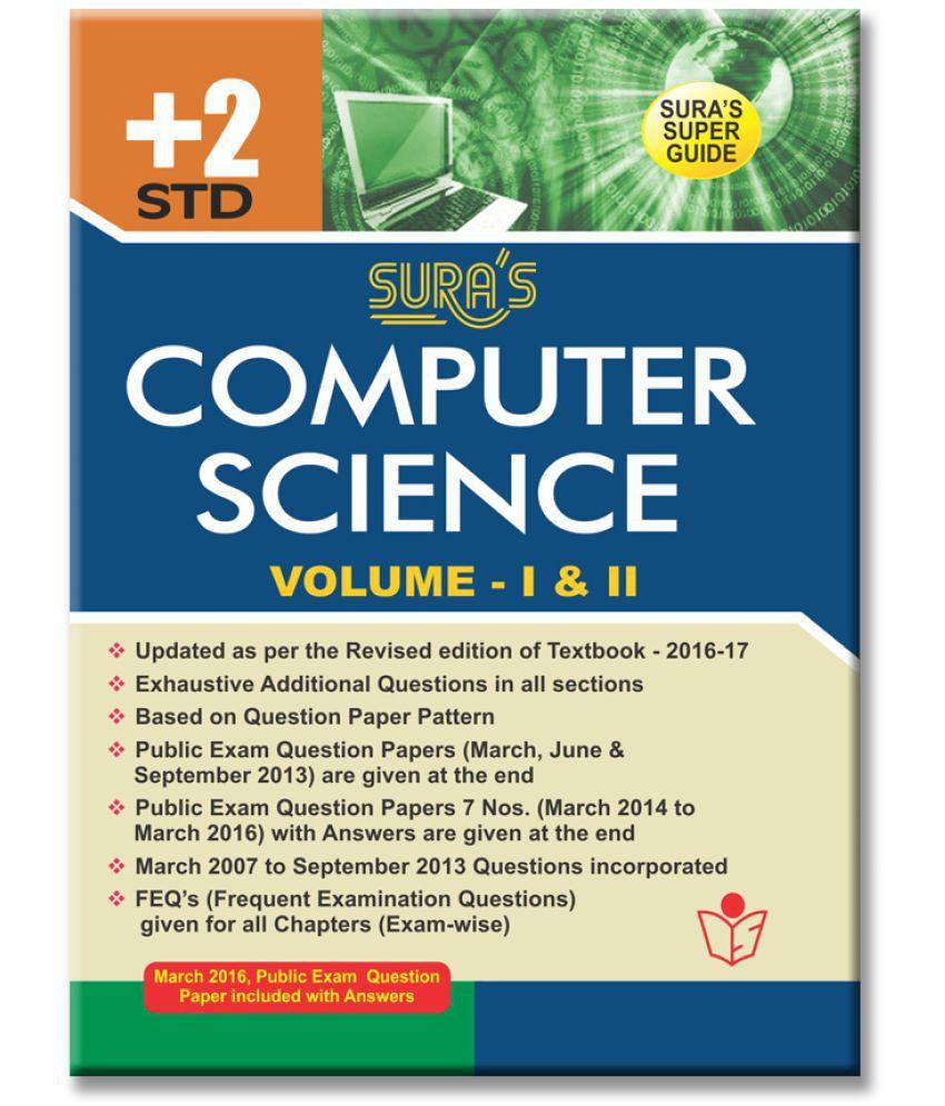12th Standard Guide Computer Science English Medium Tamilnadu State Board  Syllabus