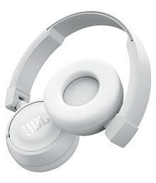 JBL T450BT On Ear Wireless Headphones With Mic White