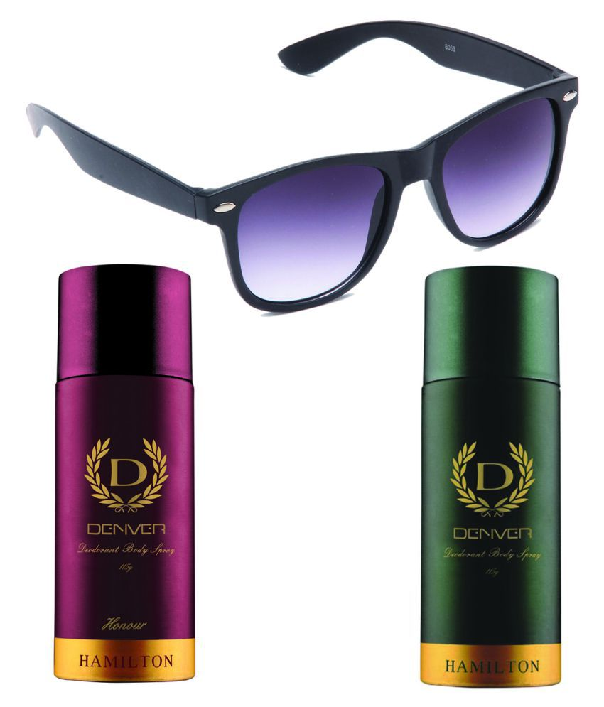 Denver Deodorant Combo (Honor, Hamilton) with Random Black Wayfarer