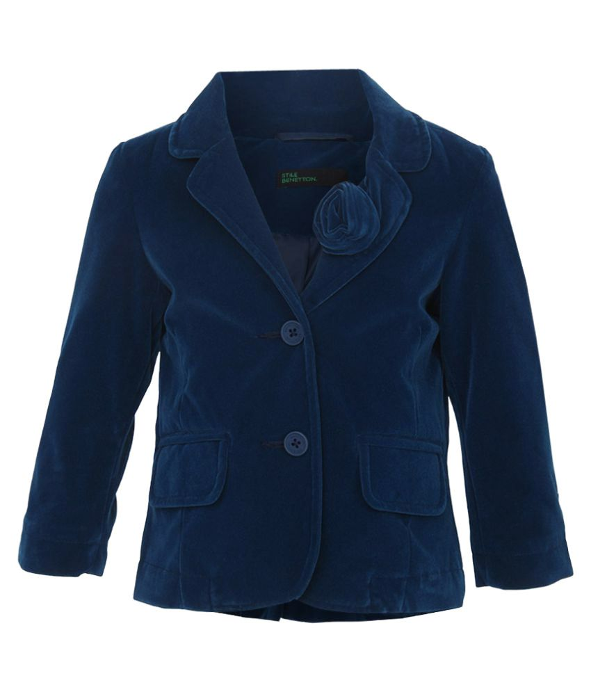United Colors of Benetton Blue Buttoned Jacket