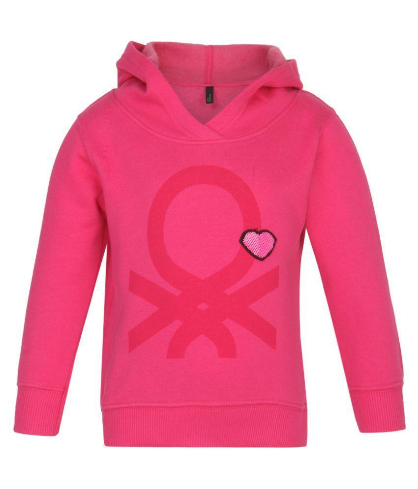 United Colors of Benetton Pink Hooded Sweatshirt
