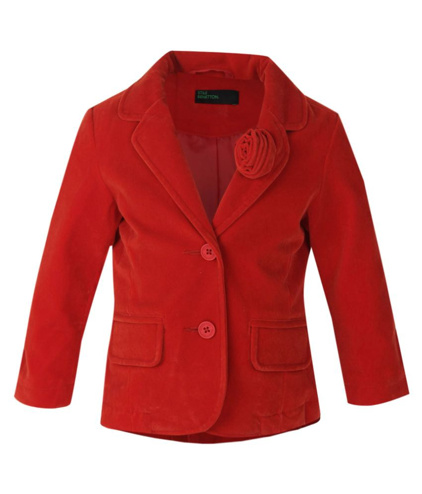 United Colors of Benetton Red Buttoned Jacket