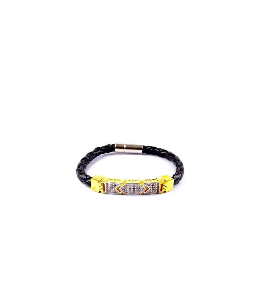 7 Star Jewel Black Bracelet