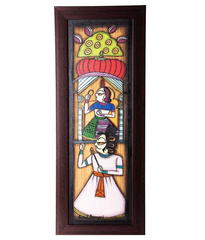 Craftedindia Wood Painting With Frame Single Piece