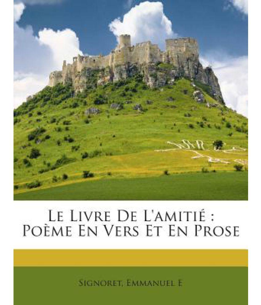 Le Livre De Lamitie Poeme En Vers Et En Prose
