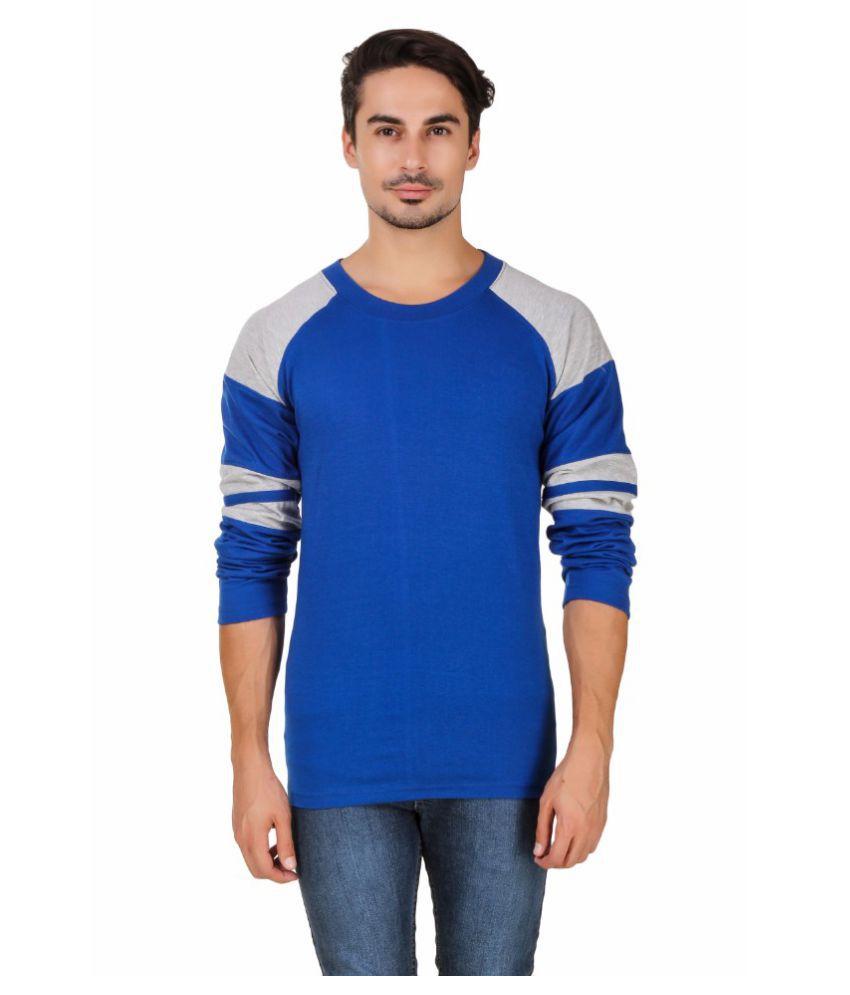 Aurelio Marco Blue Round T-Shirt