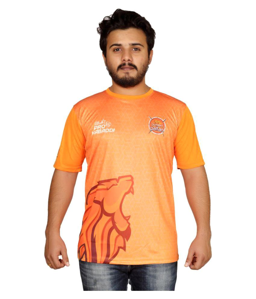 Puneri Paltan Orange Polyester T-Shirt Single Pack