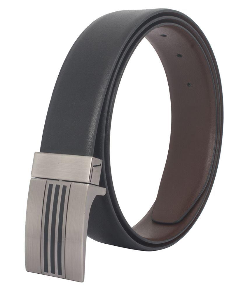 Chisel Black Leather Formal Belts