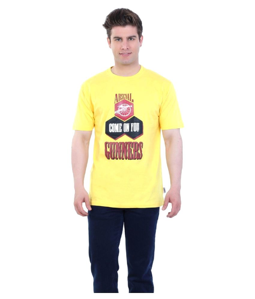 Eetee Yellow Round T-Shirt
