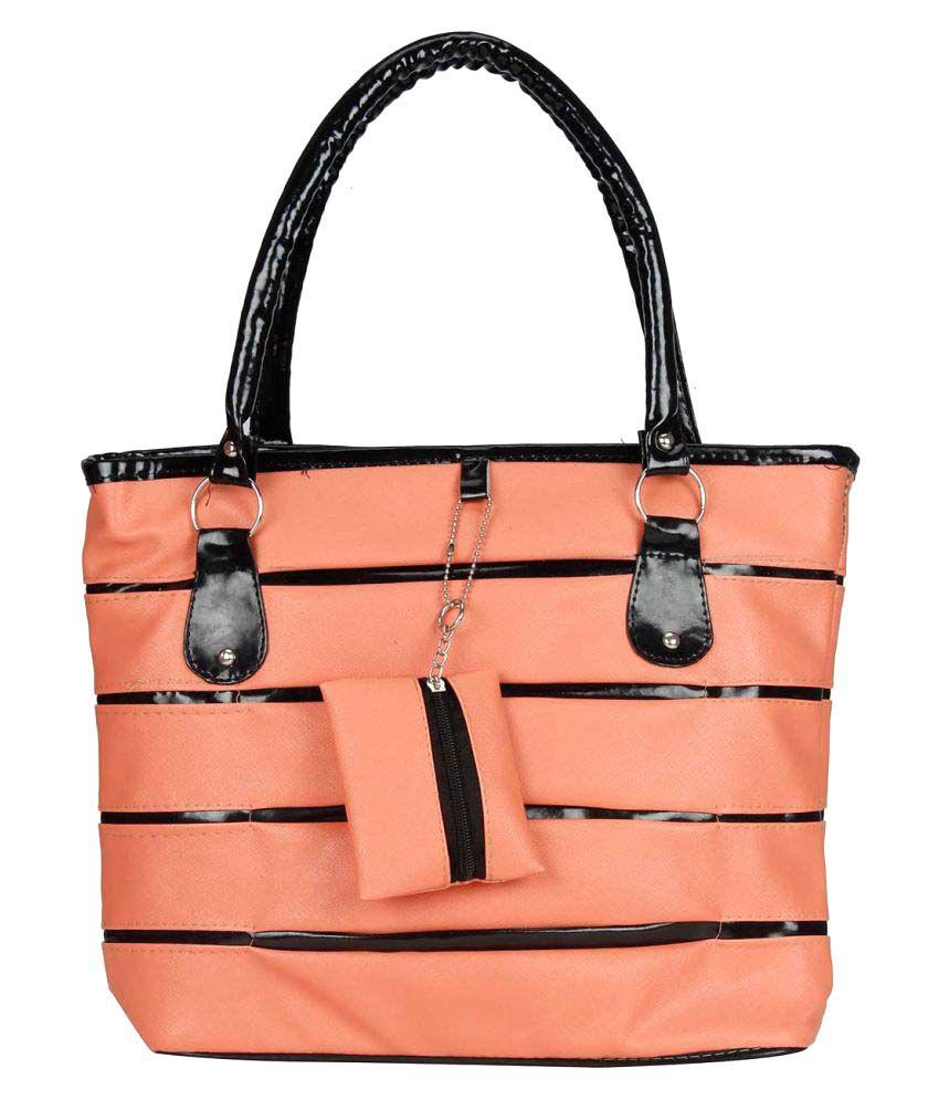 Maeva Orange Artificial Leather Shoulder Bag