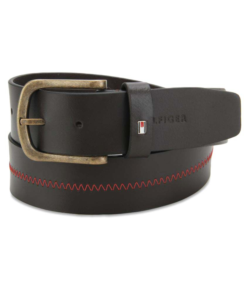Tommy Hilfiger Brown Leather Casual Belts
