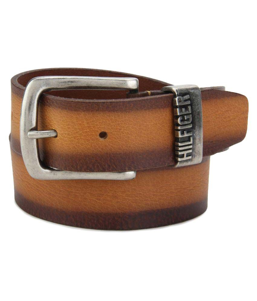 Tommy Hilfiger Tan Leather Casual Belts
