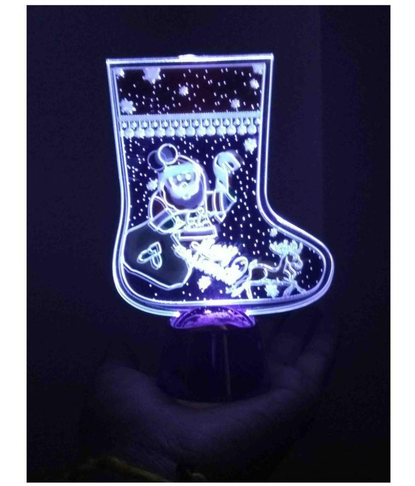Rrammg Gifts Merry Christmas Rotating Light Multi-63% OFF